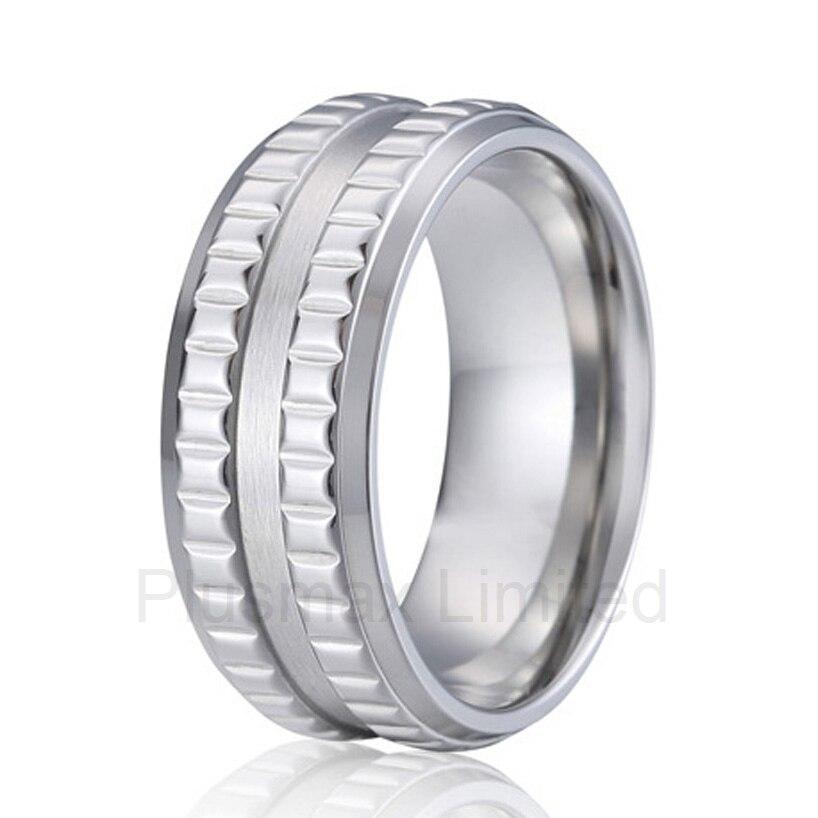 Haute qualité anel haute qualité et artisanat style USA cool personnalisé fait à la main pur titane hommes anneaux de mariage