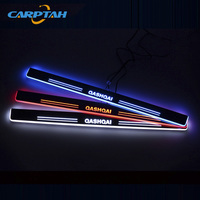 CARPTAH Trim Pedal Car Exterior Parts LED Door Sill Scuff Plate Pathway Dynamic Streamer light For Nissan Qashqai 2015 2016