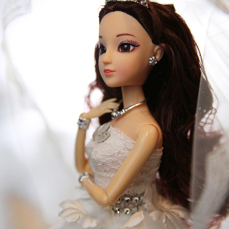 חם למכור 45CM שמלת כלה בובה Top Grade צעצועים אוסף קבל בובות נשוי יום הולדת מתנה עבור בנות מתנה לילדים 23