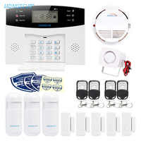 HOMSECUR Wireless GSM 850/900/1800/1900 Burglar Alarm System+PIR+5*Door Sensor