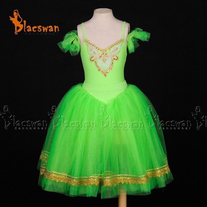 Casse-noisette fleurs Costume ballerine robe Tutu vert vif romantique Tutu Ballet à vendre BT704 fées fête scène Costume