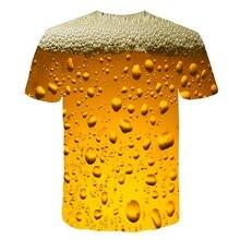 Summer 2019 men's clothing brand o-neck clock jacket beer short-sleeved 3d t shirt digital printing T-shirt Homme large size 5xl