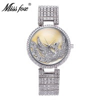 Miss Fox brand Phoenix Luxury Watch Women Rhinestone Waterproofr Top Fashion Golden Clock Quartz Watch Relojes Muje