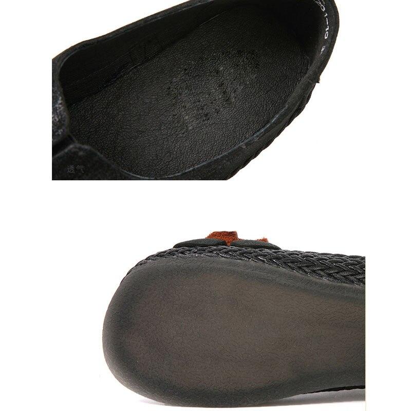 Grande De La Taille Simples Département Ethnique Et En Femmes Femelle Noir À Main Rond Japonais Cuir rouge Chaussures Coton 46ZqYn77