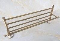 Bathroom Towel Bar Antique Brass Toilet Towel Holder Towel Rack Shelf Solid Holder Brief Fixed Bathroom Accessory Nba571
