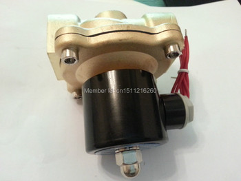 Free Shipping High Quality Brass Solenoid Valve Normally Closed Water Air Oil 2W250-25 NBR DC12V DC24V AC110V or AC220V