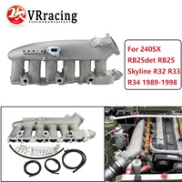 VR RACING Cast Aluminum INTAKE MANIFOLD FOR Nissan 240SX RB25det RB25 Skyline R32 R33 R34 1989 1998 VR IM32SL