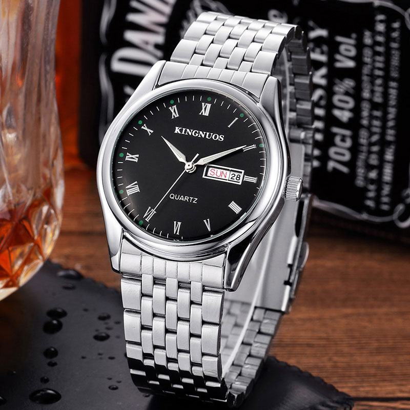 New Quartz Watch Men Watches Top Brand Luxury Famous Stainless Steel Wrist Watch Male Clock for Men Hodinky Relogio Masculino new listing men watch luxury brand watches quartz clock fashion leather belts watch cheap sports wristwatch relogio male gift