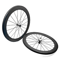 wheel bicycle 60mm clincher AC3 brake side 25mm width R36 ceramics carbon wheels 1690g 1432 Spoke bicycle carbon wheels