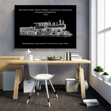 Canvas Painting Steam Station Locomotive Print New York West Shore Buffalo Railroad 1884 Decor Train Poster pop