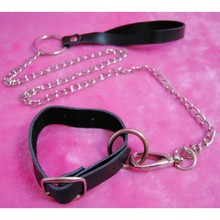 Hot Sale Pu Leather Penis Ring Cock Ring Chain Leash Set Penis Chastity Belt Cage Men Sex Toys