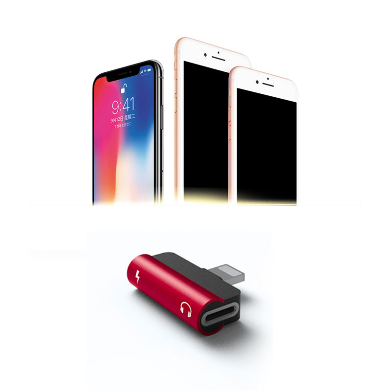 Applicable Apple Headphone Adapter I7/X Audio Adapter Charging Listening Music Calling 4-in-1 Multi-function Adapter