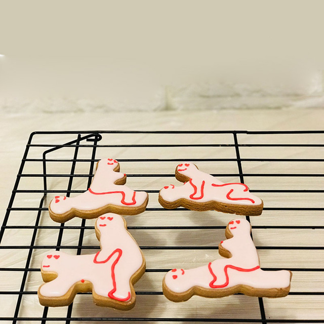 Us 1 6 29 Off Cokytoop New Stainless Steel Cookie Cutter Bachelor Party Adult Sexual Posture Funny Baking Tools Biscuits Accessories In Cookie