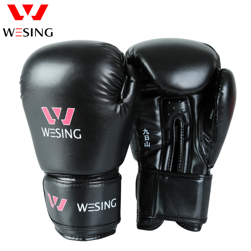 WESING Pro Style MMA Boxing Gloves with Large Size Adult Unisex Training Sparring Muay Thai Sanda Kick Boxing Gloves 16 OZ 6001 jduanl 1pc left right thick leg support boxing pads muay thai mma legs guards protector trainer combat sanda karate training deo