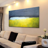 Calmness Acrylic Paint Home Decoration Oil Painting on canvas hight Quality Hand painted Wall Art 24X48 inch ,36X72 inch 1