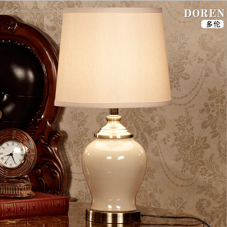 Chinese Style Ceramic E27 Table Lamp For Bed Room Living Room Bar Wedding Decor Lighting 1887