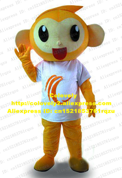 Novelty & Special Use Happy Orange Monkey Mascot Costume Cartoon Character Mascotte Adult Red Opening Mouth Small Nose White Shirt No.zz2223 Free Ship Be Friendly In Use