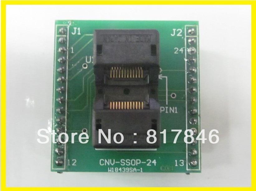 frete gratis cnv ssop24 para dip adaptador universal para usb adaptador programador ic sockets