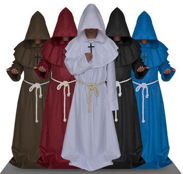 geestelijkheid gewaden geestelijke geestelijk gewaden middeleeuwse - Carnavalskostuums