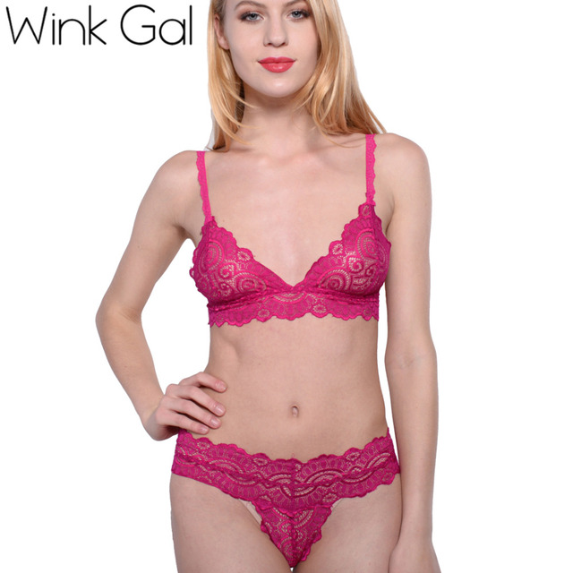 Wink Gal Lovely Bra Brief Sets Bra And Panties White Unlined Set Lingerie Women Underclothes 1940