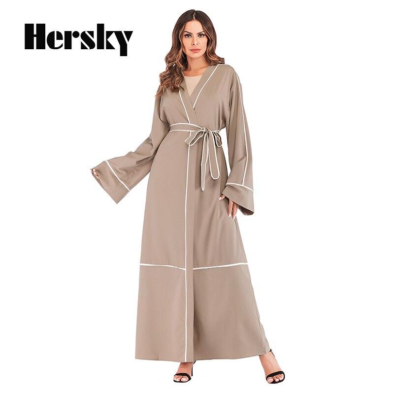 Nouveau Moyen-Orient Abaya Dubaï Robe Musulmane Caftan L'islam Caftan Marocain Robe Hijab Islamique Vêtements Peignoir Turc Abayas Pour Femmes