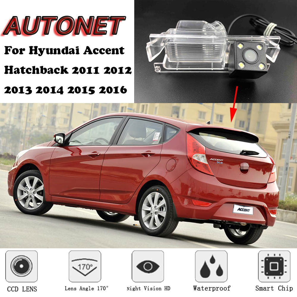 AUTONET Backup Rear View Camera For Hyundai Accent Hatchback 2011 2012 2013 2014 2015 2016  Night Vision/license Plate Camera