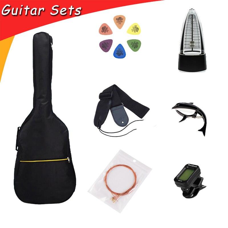 Accessoires guitare ensembles de guitare avec sac de guitare cordes Capo accordeur pics métronome pour Instruments à cordes GP115