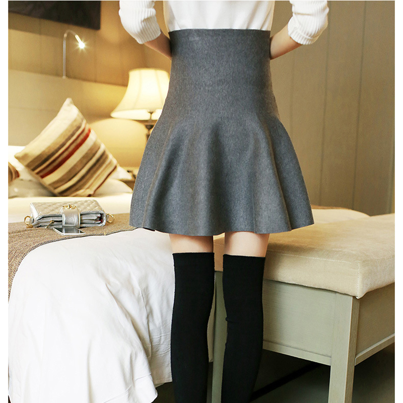 wmwmnu 2018 new women 39 s elastic Knitted skirt High quality casual sexy mini skirts female China cheap fashion high waist skirt in Skirts from Women 39 s Clothing