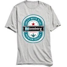 2018 Discount T Shirt Man Breaking Bad T-shirt Heisenberg Design Tshirt O-Neck All Cotton Men Tops Tees Short Sleeve Letter Grey