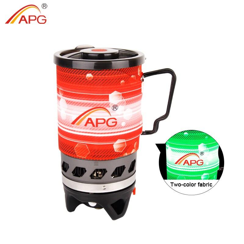 APG cuisinière à gaz Propane système de cuisson personnel brûleurs extérieurs portables randonnée Camping équipement échangeur de chaleur Pot