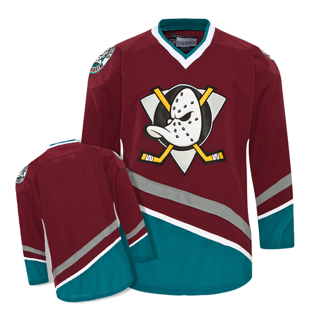 Blank Anaheim Mighty Ducks Maroon Vintage Hockey Jersey Any Name And Number  Stitch Sewn sweatshirts 74bb92711bb