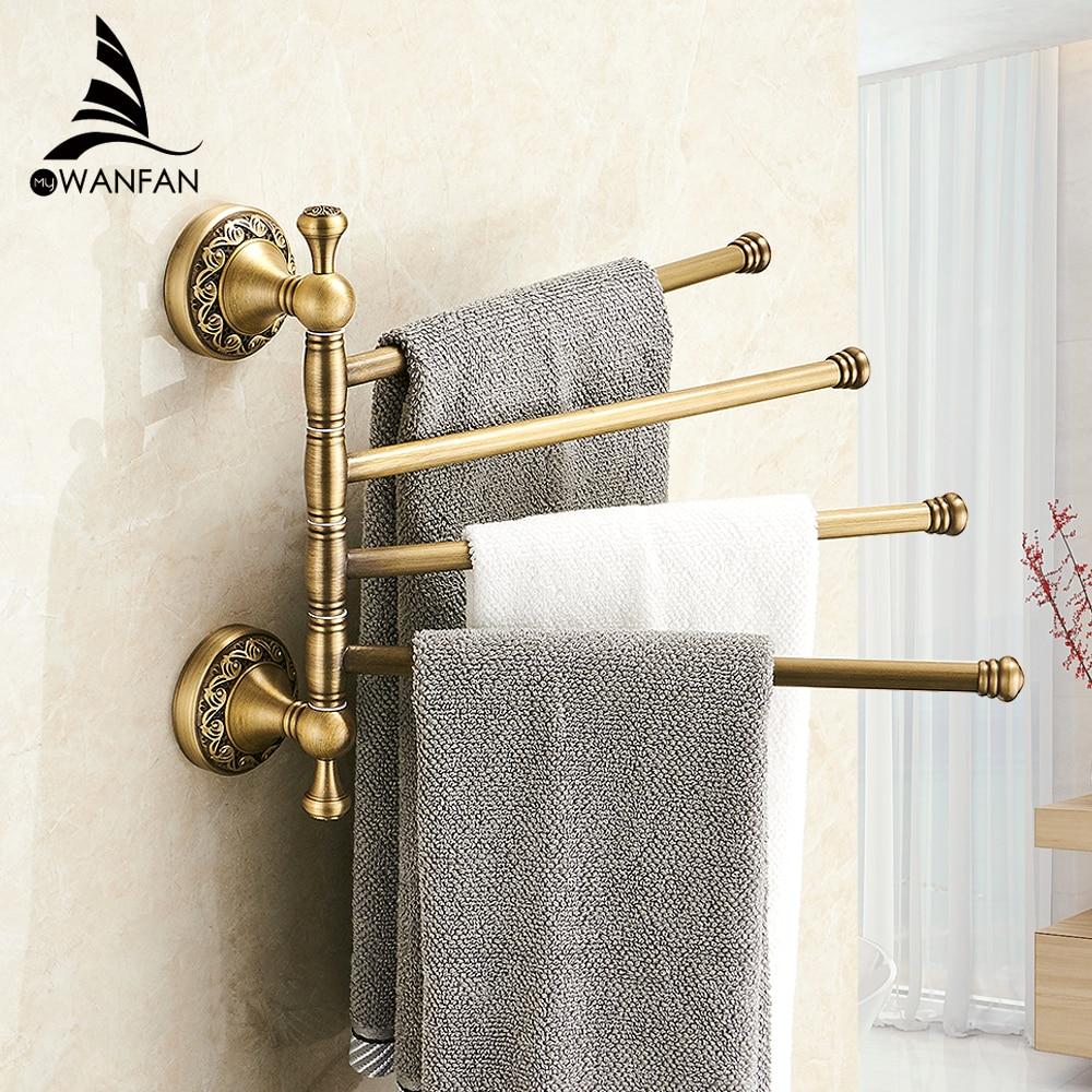 4 Tiers Bars Antique Br Towel Holder