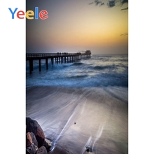 Yeele Wedding Portrait Photography Backdrops Sunset View Seaside Bridge Custom Photographic Backgrounds For The Photo Studio цена и фото