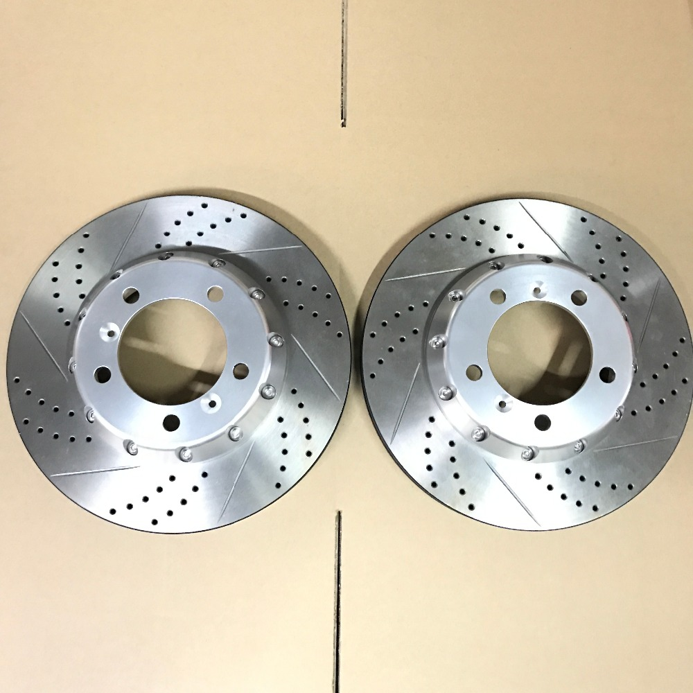 Jekit rotor replacement 330*28mm slotted drilled rotors with sliver for passat b6/toyota land cruiser 100 front brake system