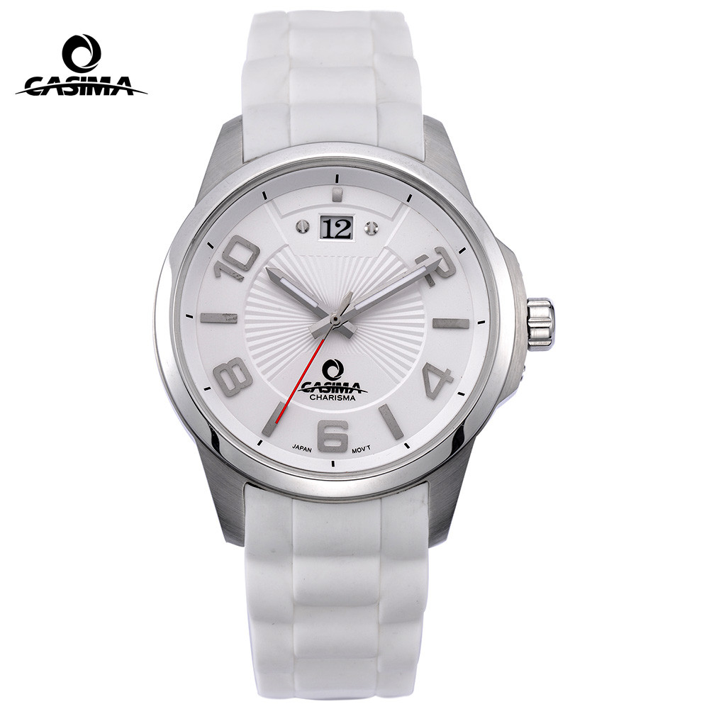 Luxury Brand watches men Sport Fashion Elegant table mens quartz watch silicone strap waterproof 100m CASIMA 5109 цены онлайн