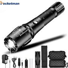 Hohe LM Ultra Helle Taschenlampe LED Taschenlampe Einstellbare Tactical Taschenlampen linterna Fahrrad Licht Wiederaufladbare durch 18650
