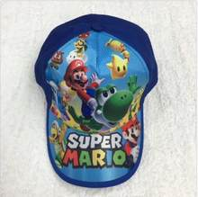 1 pcs Fashion Cartoon Super Mario Children Baseball Cap Boy Girl Outdoor Sunshade Hat Cute Kids Peaked Cap M1(China)