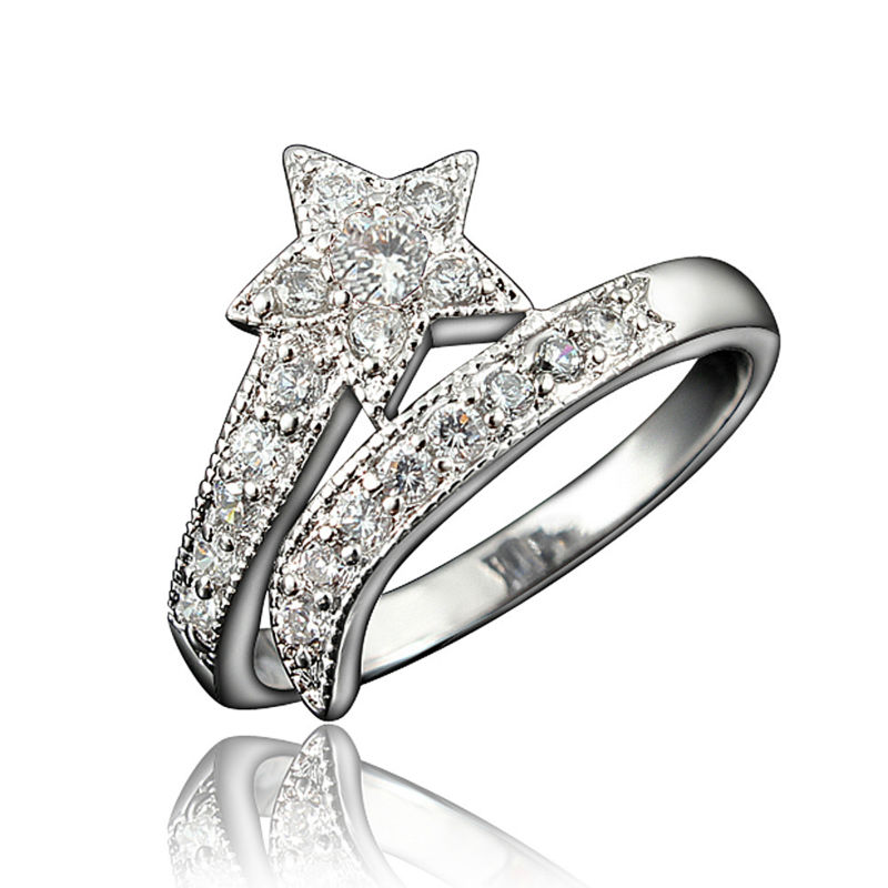 vnox vintage wedding rings for women gold color stainless steel 2 row crystal cubic zirconia girl jewelry