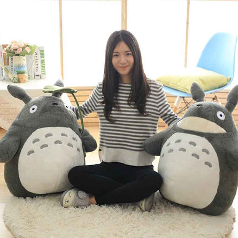 27-55cm Cute Wedding Press Doll Children Birthday Girl Kids Toys Totoro Doll Large Size Pillow Totoro Plush Toy Doll