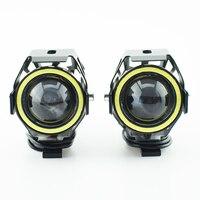 Motorcycle Headlight Accessories 6500K 12v 125w u7 LED Moto headlamp auxiliary Driving Lamp motorbike Fog spot lights DRL