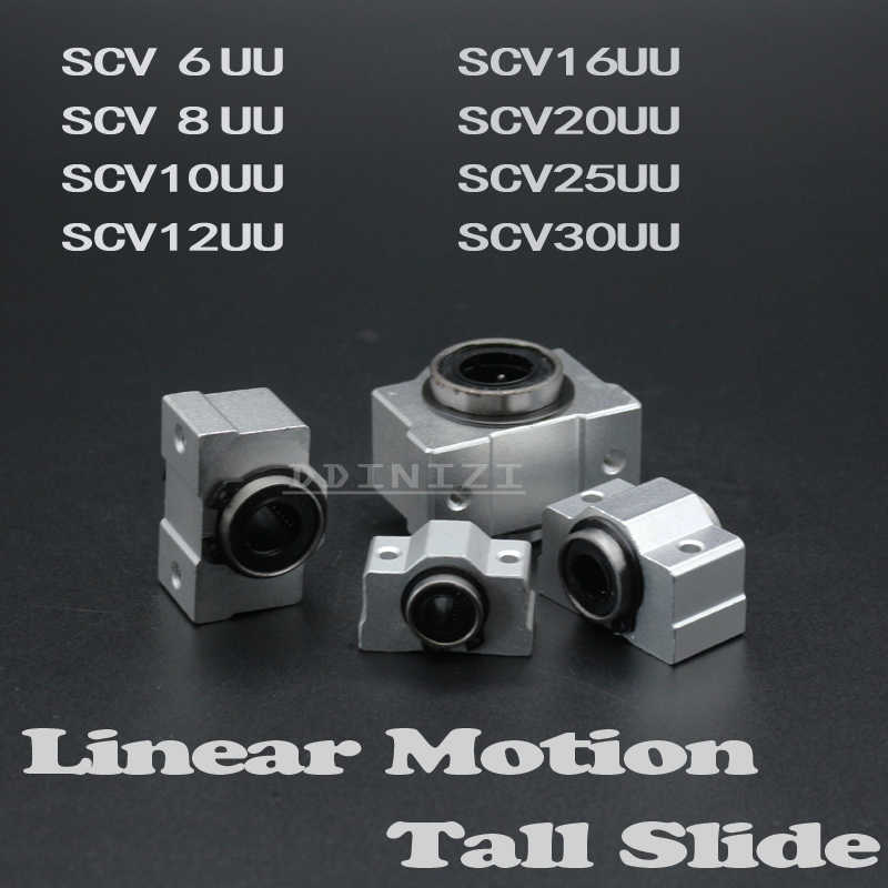 1pcs SC8V SCV8UU 8mm linear bearing bushing short sliding block inside contain LM8UU linear ball bearing for 8 mm linear shaft