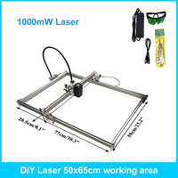 1000mW DIY Desktop Mini Laser Engraver Engraving Machine Laser Cutter Etcher 50X65cm Adjustable Laser Power