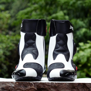 Image 4 - Riding Tribe Microfiber leather Motorcycle Boots Pro biker Speed Bikers Moto Racing Motocross Shoes