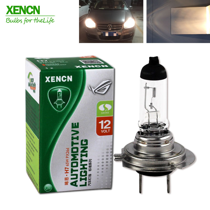 XENCN H7 12V 60W 3200K Clear Serie Ultra Life Car Head Light Halogen Bulb 30% More Ligh 75M Beam  Free Shipping New 2 Pos