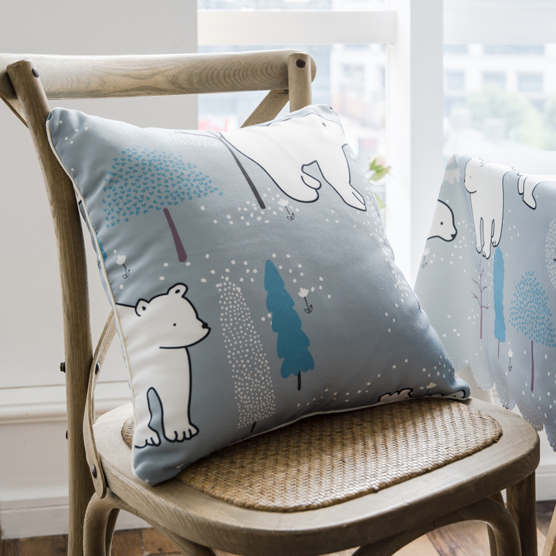 SunnyRain 1-Piece Cartoon Waterproof Cushion Cover Decorative Pillow Cover For Sofa image