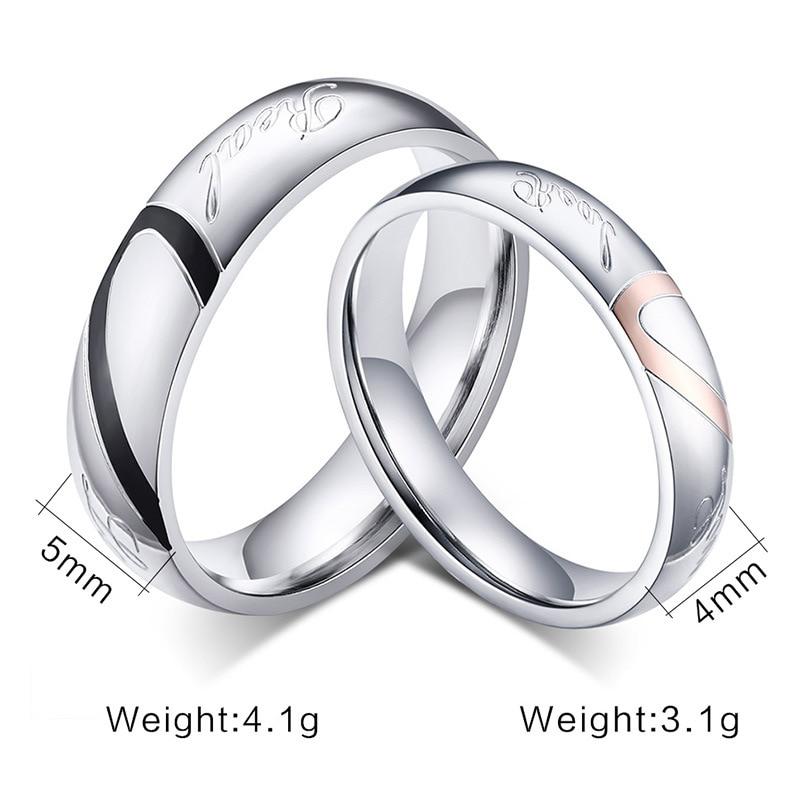 Aliexpresscom Buy 2017 New Fashion Heart Ring Lovers Wedding