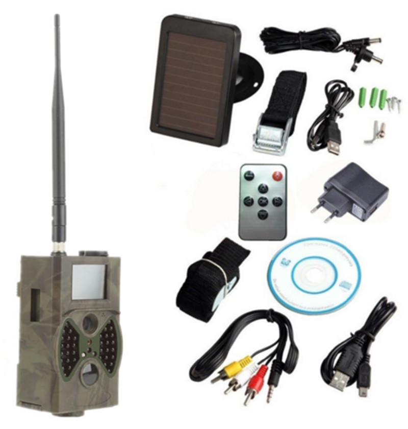 IP54 Waterproof Night Vision SMS MMS GSM 12mp/8mp/5mp 940nm Solar Powered Trail Camera HC300M