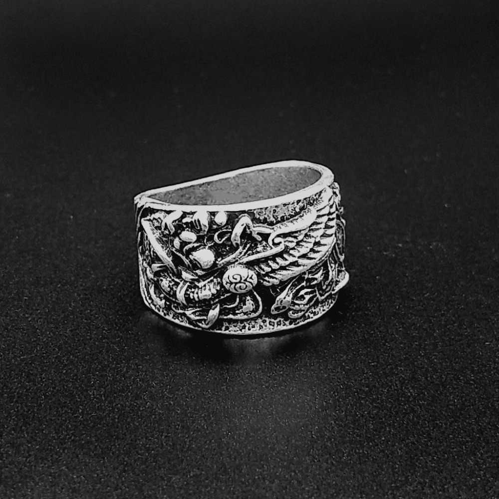 Norse Viking pagão Griffin S crachá Anel dos homens anel de liga de Zinco jóias
