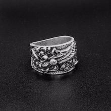 Norse Viking ring Zinc alloy Griffin S badge Men's Ring pagan jewelry(China)