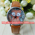 DHL free 100pcs/lot,Curious Fox Watch. Geneva Unisex Wristwatch. For Men and Women. Gift. Metal Watch